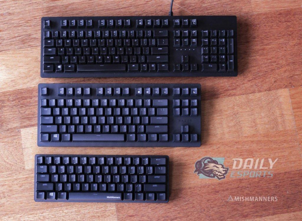 Keyboard Size Comparisons