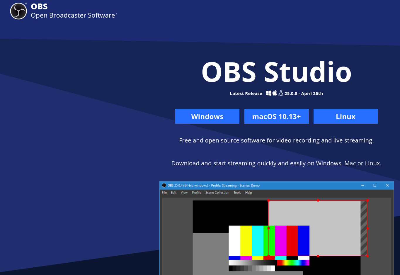 OBS Gaming start