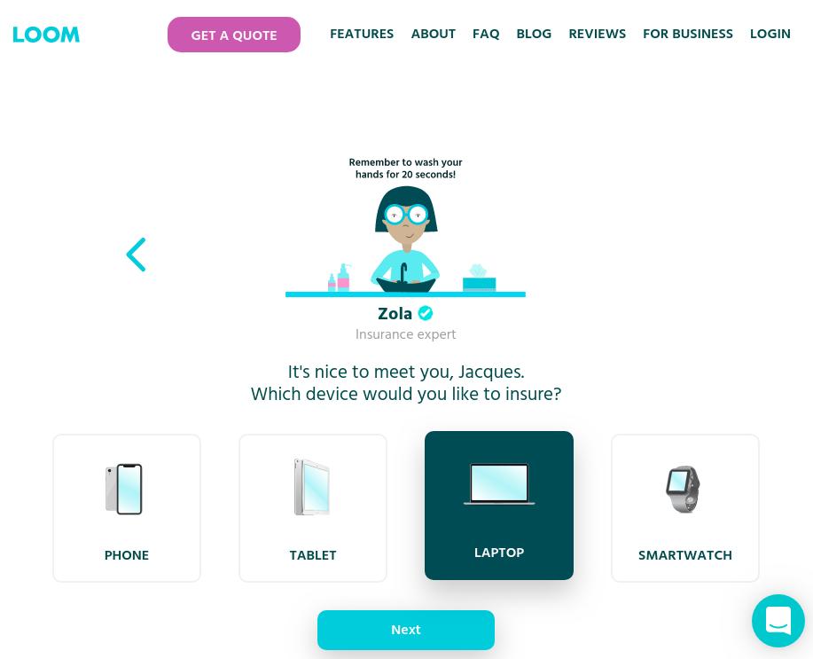 LOOM Insurance - Device Options