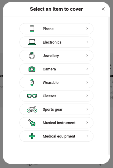 Naked Insurance - Device Categories