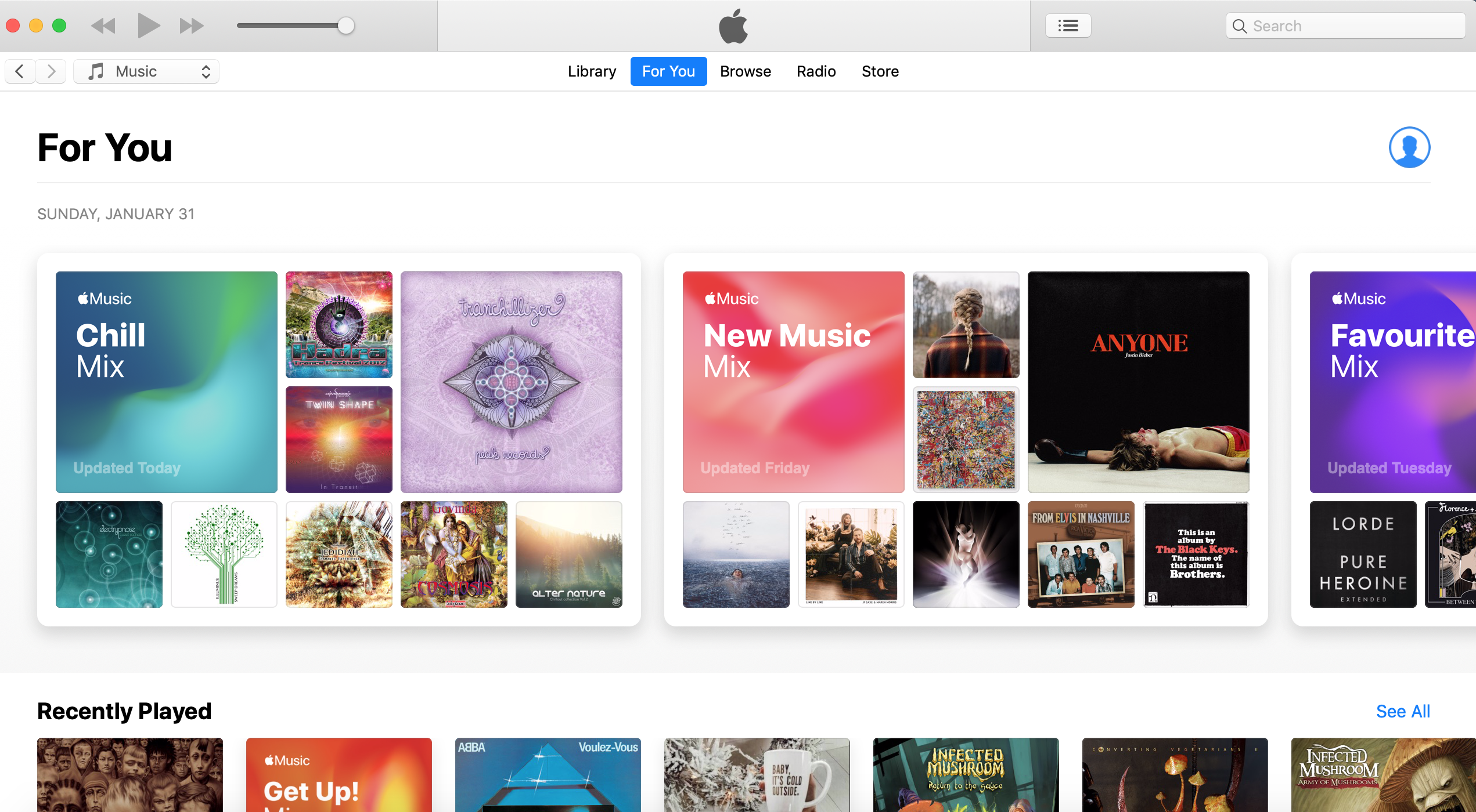 Apple iTunes Music Streaming - Recommendations
