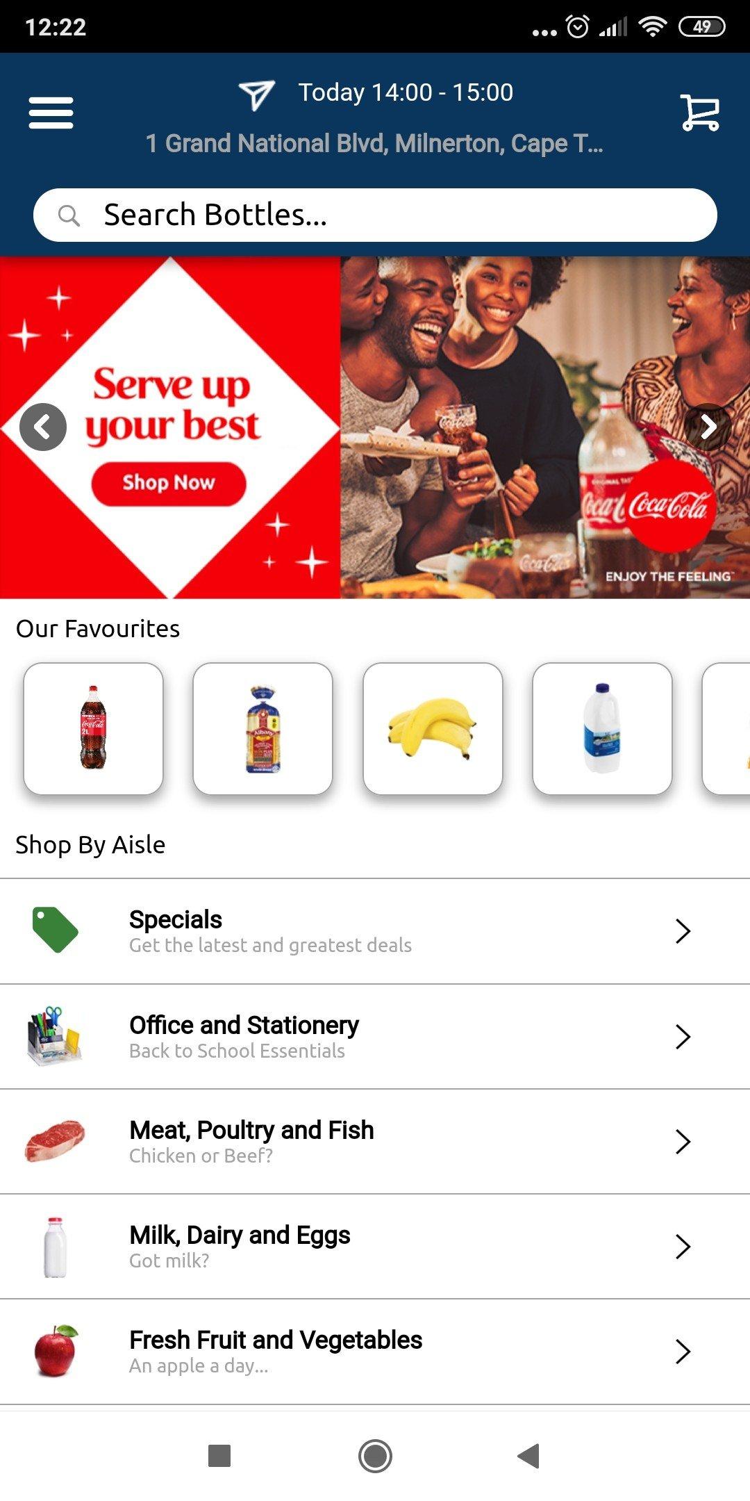 Pnp Bottles App - Home