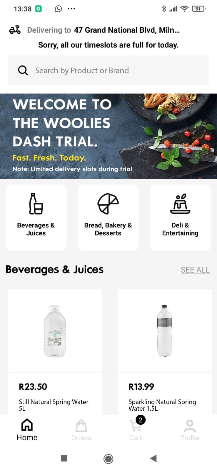 WoolWorths Dash App - Biltong Shopping