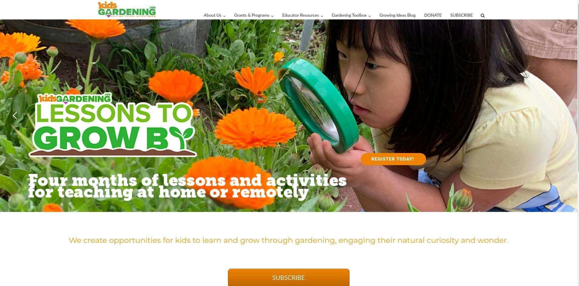 Kids Gardening Online