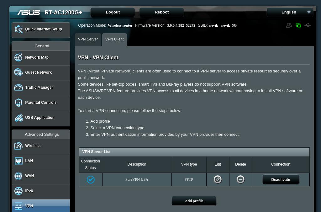PureVPN - ASUS VPN Router Setup
