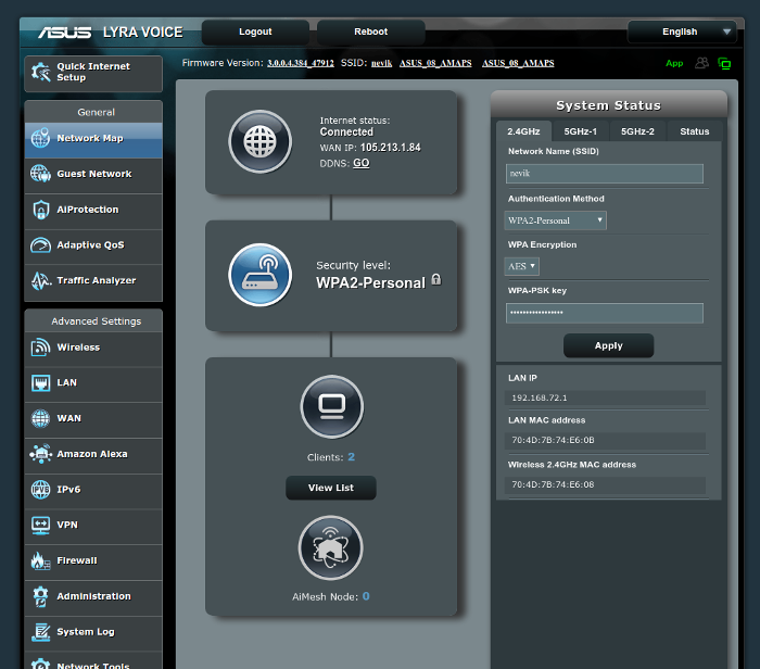 ASUS Lyra Voice Software - Web Interface