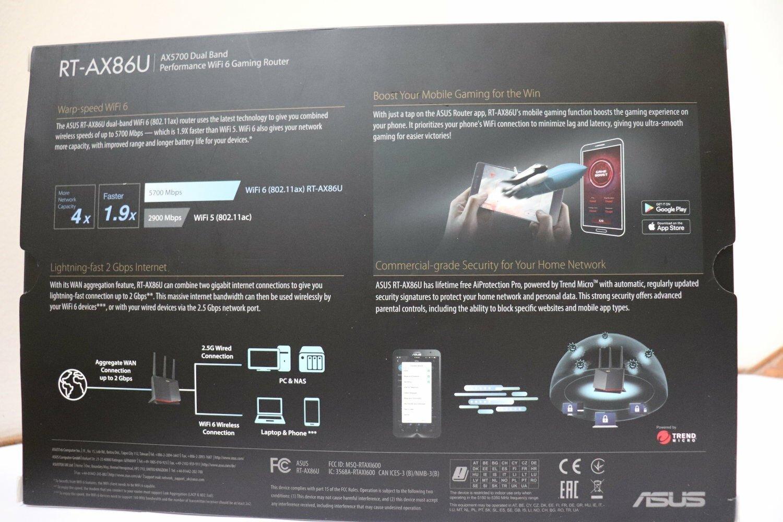 Router ASUS RT-AX86U - Box Back