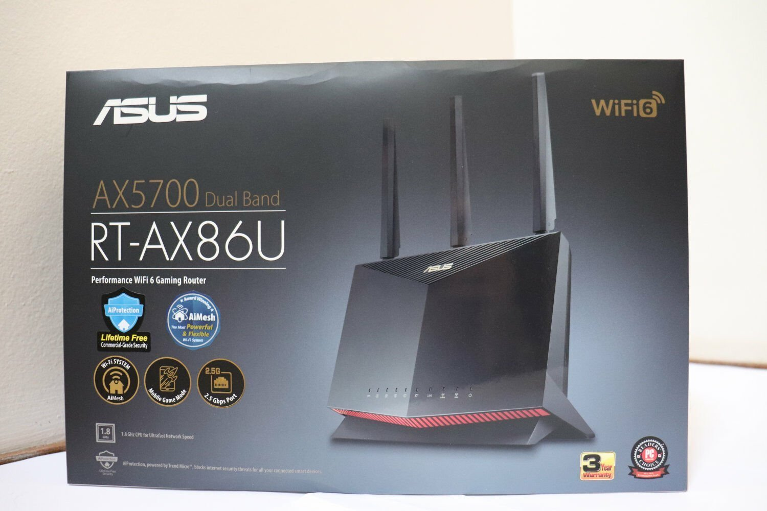 Router ASUS RT-AX86U - Front Box