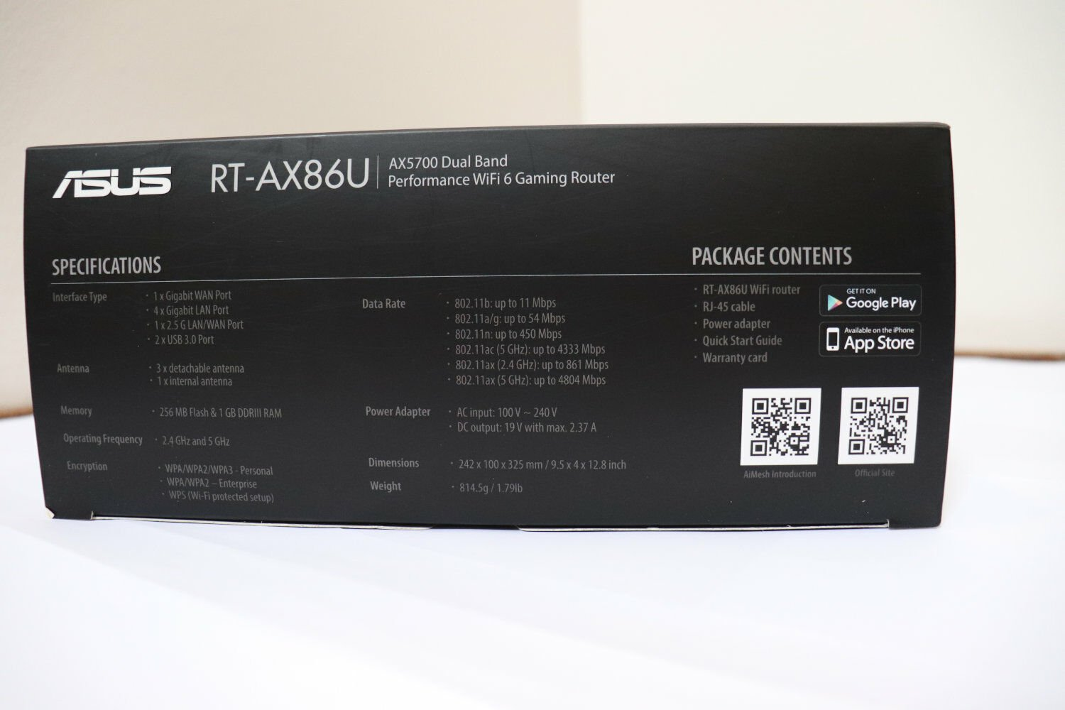 Router ASUS RT-AX86U - Box Side