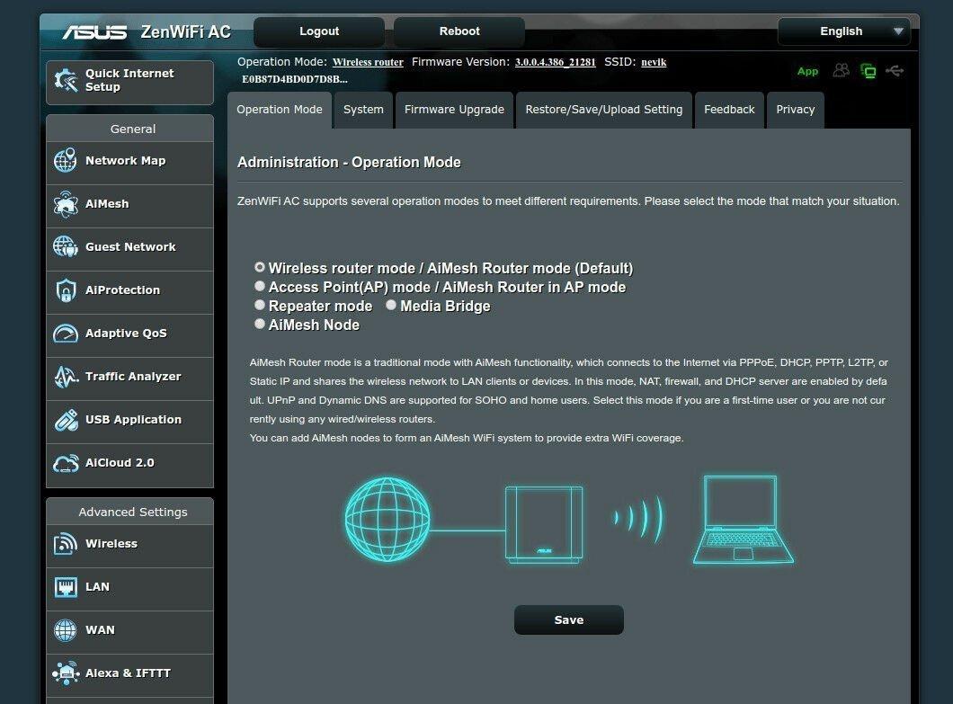 ASUS ZenWifi Software Mesh Nodes